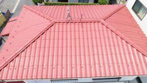 ドローンで撮影した屋根の写真